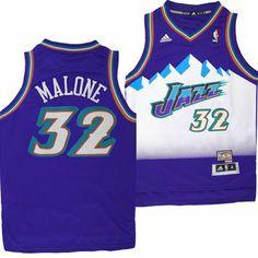 Utah Jazz Adidas NBA Karl Malone #32 Youth Hardwood Classics Swingman Jersey (Purple)