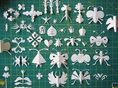 Beautiful folded paper bugs and shapes    herzensart journal: Knipwerk
