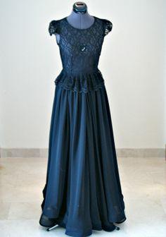 Black tie – lace and chiffon