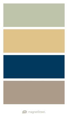 Sage, Gold, Navy, and Ashwood Wedding Color Palette - custom color palette created at MagnetStreet.com