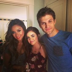 Keegan Allen, Shay Mitchell and Lucy Hale