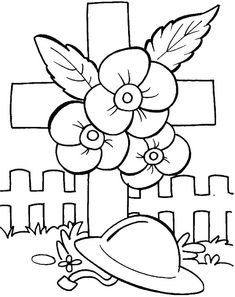 Remembering the unknown soldiers coloring pages