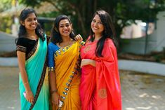 Girls Together, Half Saree, Looking For Women, Hand Embroidery, Sarees, Lovers, Classic, Beautiful, Fashion