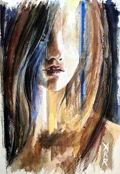 "Saatchi Art Artist Allison Rathan; Painting, ""Blind Streak"" #art"