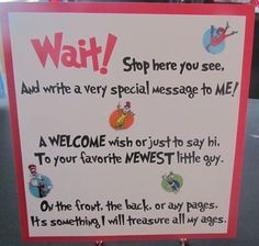 dr seuss baby shower guest book sign