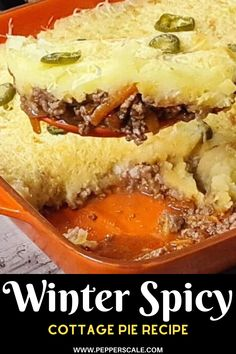 This is a great winter recipe! Prepping your Spicy Cottage Pie does take some time. So if you're prepping for a party, feel free to do all of the spicy cottage pie prep work first then refrigerate it. When you're ready, simply pop it in the oven at around 300 degrees Fahrenheit for 30 minutes to reheat and omit the final step of broiling the cheese. #spicy #cottagepie #comfortpie #spicycottagepie Cottage Pie, Stuffed Hot Peppers, Spicy Recipes, Winter Food, Hot Sauce, Oven, Spicy Salsa, Kitchen Stove, Sheppard Pie