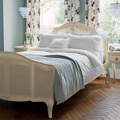 Buy John Lewis & Partners Crisp and Fresh Antique Cotton Bedding, Single from our Duvet Covers range at John Lewis & Partners. Super King Duvet Covers, Double Duvet Covers, Single Duvet Cover, Ceiling Shades, French Bed, Rococo Style, Cotton Bedding, Bed Frame, John Lewis