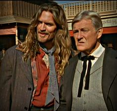 Hank Lawson of Dr. Quinn Medicine Woman. Dang that show had some amazing hair (and I am referring to the individual on the left, though, the older fella has a nice thick head of hair himself. Unfortunately, he made the mistake of scissors).