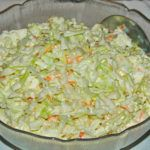 KFC Coleslaw is a five minute side dish you'll enjoy all summer long with your favorite chicken and more! KFC Coleslaw is one of my most personal childhood food memories. Low Carb Recipes, Beef Recipes, Cooking Recipes, Easy Recipes, Chicken Recipes, Healthy Recipes, Kfc Coleslaw, Coleslaw Recipes, A Food