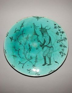 Maker(s) & Production: Unknown, potter, Iran Category: fritware (stonepaste) Name(s): dish Islamic pottery; category Date: circa 1700 — circa 1799 School/Style(s): Safavid; Ceramic Clay, Ceramic Pottery, Ceramic Plates, Vases, Iranian Art, Museum Collection, Ancient Art, Islamic Art, Art And Architecture
