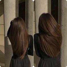 Brown Hair Balayage, Hair Highlights, Pretty Hairstyles, Straight Hairstyles, Aesthetic Hair, Brunette Hair, Dark Hair, Rich Brown Hair, Gorgeous Hair