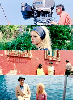 """Brigitte Bardot is flawless and the color in this film is magnifying. """"Le Mepris"""" (Contempt) 1963."""