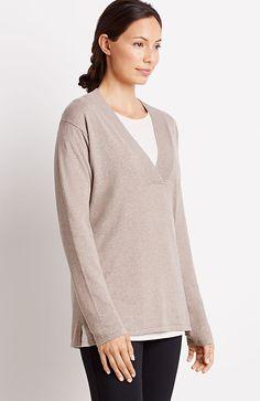 Pure Jill deep-V pullover