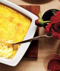 Creamy Baked Parmesan Polenta   What's more wonderful than an evening around the table with good friends? This easy-to-execute game plan ensures that the meal will be delicious, the company delightful, and the host (that's you) relaxed, happy, and nowhere near the kitchen.