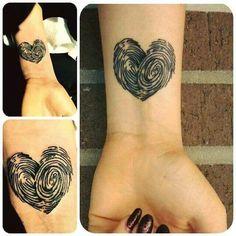 Fingerprints tattoo