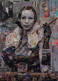 paper strip collage by Marius Markowski via Private Art, album: Art collage Magazine Collage, Magazine Art, Collages, Mode Collage, Collage Portrait, Collage Artwork, Portraits, Newspaper Art, Social Art
