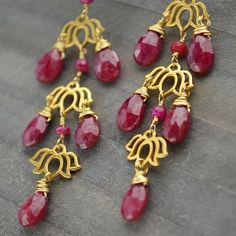 lotus charm, flower charm, yoga charms, earring design, gemstone beads