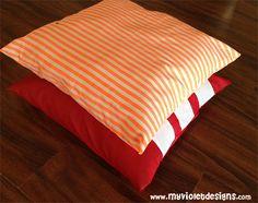 Almohadones rayas. 60cm * 60cm. myvioletdesigns.com