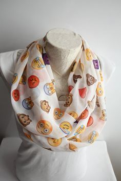 Emoji Scarf  Smile Scarf  Emoji Infinity Scarf Poop Scaarf Angel Scarf Women Accessories  Gift for Her by dreamexpress from dreamexpress on Etsy. Find it now at http://ift.tt/1YJxlM8!