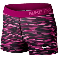 "Nike Pro 3"" Compression Shorts Women's ($35) ❤ liked on Polyvore featuring activewear, activewear shorts, nike, nike sportswear and nike activewear"