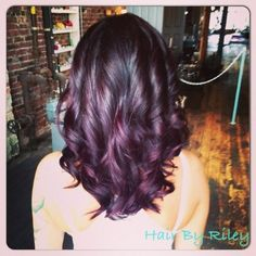 lol whoever pinned this is awesome, this is my hair as of 4.1.14; the deep purple and dark brown-violet is absolutely beautiful. Idk if I'll ever change my hair color again :D