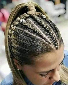 - Little black girl hairstyles Braided Ponytail Hairstyles, Easy Hairstyles For Long Hair, Braids For Long Hair, Girl Hairstyles, Curly Hair Tips, Curly Hair Styles, Natural Hair Styles, Hair Upstyles, Hair Videos