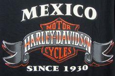 Harley Davidson 3 Button Henley Style Shirt XL Mexico Black 100% Cotton USA SS #HarleyDavidson #GraphicTee $31.99