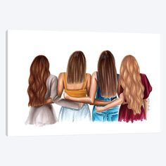 Drawing Of Girls Friends Sisters - Drawing Best Friend Sketches, Friends Sketch, Best Friend Drawings, Girly Drawings, Easy Drawings, Best Friends Cartoon, 4 Best Friends, Friend Cartoon, Best Friends Forever