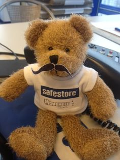 Once Rutherglen's bear Timmy saw the effort Team Safestore were making to raise money for the charity, he decided to join them and impress them with his tache growing skills!