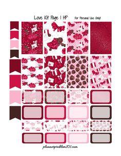 Free Printable Love Kit Planner Stickers Planner 2018, Kikki K Planner, Planner Tips, Free Planner, Happy Planner, Filofax, Printable Planner Stickers, Calendar Printable, Free Printables
