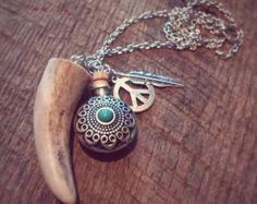 deer antler neck antler necklace antler pendant antler jewelry authentic antler gift for hunters boho jewelry tribal jewelry outdoor gift