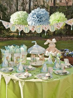 Not just birthdays, but how about this sweet Beatrix Potter-themed tablescape for the kids at Easter time...