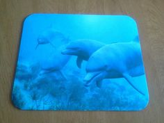 FREE shipping on all items!  Many designs to choose from!  Dolphins Mouse Pad - Dolphins in Blue Sea