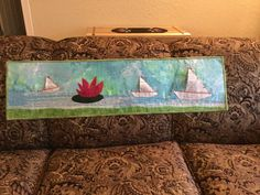Paper Boats Wall Hanging.  (pattern from Sew Creative, Fairport NY for Row-by-Row 2015)