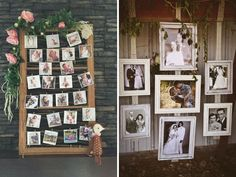 Polaroid picture wall - 31 Best Wedding Wall Decoration Ideas - EverAfterGuide