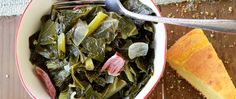 Smoked ham hock and chicken broth add mouth-watering southern charm to authentic  collard greens.