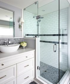 Home in Lawrence Park, Toronto - transitional - Bathroom - Toronto - Jackie Di Cara Design