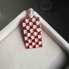Natural red garnet gem pendant S925 silver Natural gemstone Pendant Necklace trendy large Square women wedding. Click visit to buy #FineJewelryPendant #Jewelry #Pendant