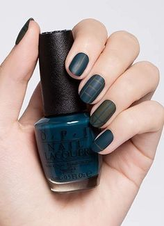 Matte nail color that you will easily get with appropriate nail polish. This manicure is modern, easy to combine with any outfit, so that it will be a big hit.