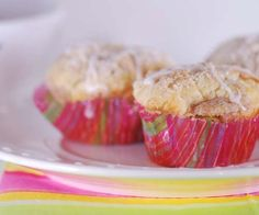 Weight Watchers Amaretto Apple Streusel Cupcakes