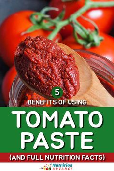 A guide to some of the benefits of using tomato paste alongside the full nutrition facts of the product. #tomato #condiments #nutrition