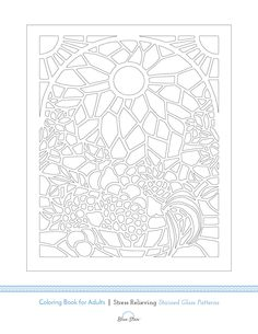 Heres A Free Adult Coloring Book Image From Our Stained Glass Patterns On Amazon Simply Print Color And Relax If You Enjoy This Page