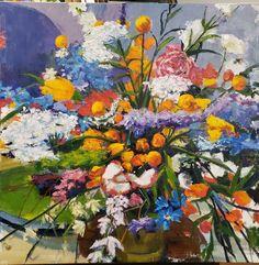 Jenn Hallgren is a Philadelphia Artist painting trees and gardens, landscapes, and still lifes with oil paint. Artist Painting, Painting Trees, Oil On Canvas, Canvas Art, Original Paintings, Original Art, Flower Show, Impressionism, Artwork Online