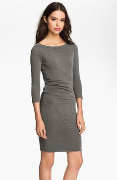 James Perse Asymmetrical Ruched Dress available at Nordstrom