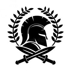 Casco espartano y espadas cruzadas Spqr Tattoo, Spartan Helmet Tattoo, Warrior Logo, Spartan Warrior, Warrior Tattoos, Samoan Tattoo, Shoulder Tattoo, Tribal Tattoos, Body Art Tattoos