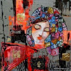 BELLA... (Peinture),  40x40 cm par Audrey Marienkoff Acrylique sur toile