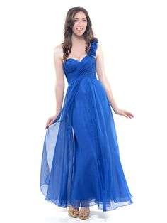 Royal Blue One Shoulder Gown