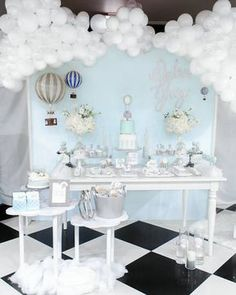 """Hot Air Balloon Dessert Table from a """"You are my Greatest Adventure"""" Hot Air Balloon Baby Shower on Kara's Party Ideas 