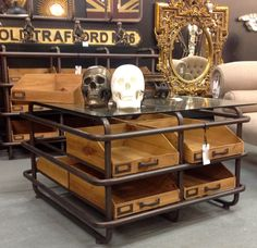 vintage iroko school lab table / desk / kitchen island / workbench