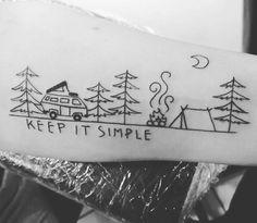 tatuagem simples de viagem